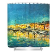 Cannes By Night Shower Curtain