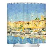 Cannes Harbour Shower Curtain