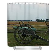 Cannon At Gettysburg Shower Curtain