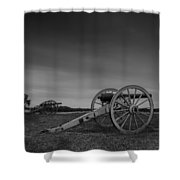 Cannon At Henry Hill Shower Curtain