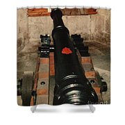 Cannon At Pendennis Castle Shower Curtain
