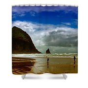 Cannon Beach At Dusk II Shower Curtain