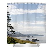 Cannon Beach At Ecola State Park Shower Curtain