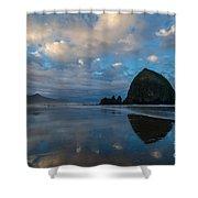 Cannon Beach Calm Morning Tidal Flats Shower Curtain