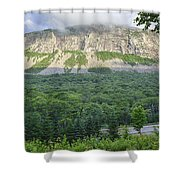 Cannon Cliff - Franconia Notch State Park New Hampshire Usa  Shower Curtain