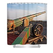Cannon In Fortress Shower Curtain