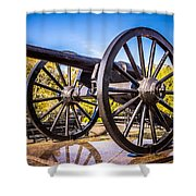 Cannon In New Orleans Washington Artillery Park Shower Curtain