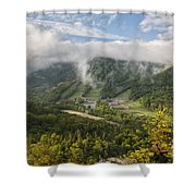 Cannon Mountain - White Mountains New Hampshire Usa Shower Curtain