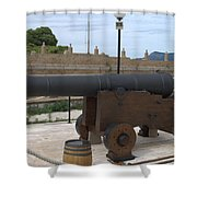 cannon of the old fort Corfu Shower Curtain
