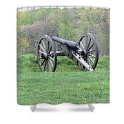 Cannon On Culp's Hill Shower Curtain