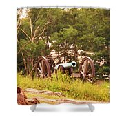 Cannon On Culps Hill Shower Curtain