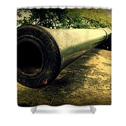Elephanta Island Cannon Shower Curtain
