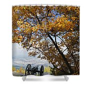 Cannon On Top Of Lookout Mountain Shower Curtain by Bruce Roberts