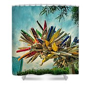 Canoe Art Shower Curtain