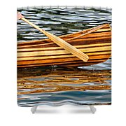 Canoe Lines And Reflections Shower Curtain