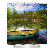 Canoeing At The Lake Shower Curtain