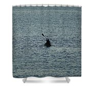 Canoeing In The Florida Riviera Shower Curtain