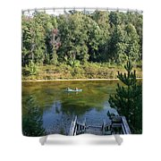 Canoeing Michigan's Au Sable Shower Curtain