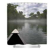 Canoeing The Ozarks Shower Curtain
