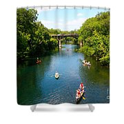 Canoeing The Springs Shower Curtain