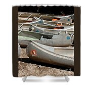 Canoes 143 Shower Curtain