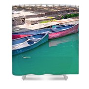 Canoes 3 Shower Curtain