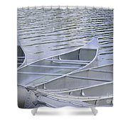 Canoes Waiting Shower Curtain