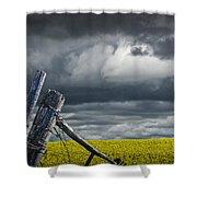 Canola Field In Southern Alberta Shower Curtain