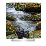Canon 7d Shower Curtain by Dan Sproul