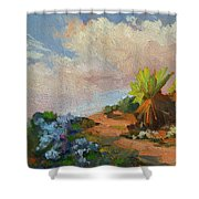 Canterbury Bells Joshua Tree Shower Curtain