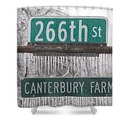 Canterbury Ice Shower Curtain