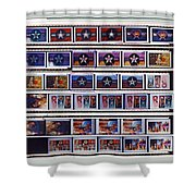 Canvas Contact Strip Shower Curtain