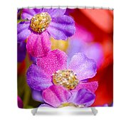 Canvas Flowers Shower Curtain
