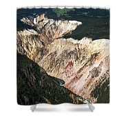 Canyon And Yellowstone Falls Shower Curtain