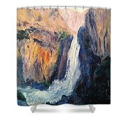 Canyon Blues Shower Curtain