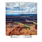 Canyon Country Shower Curtain by Chad Dutson