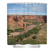 Canyon De Chelly Overview Shower Curtain