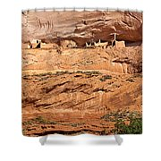 Canyon Dechelly Pueblo Ruins Shower Curtain