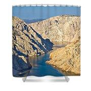 Canyon Of Zrmanja River In Croatia Shower Curtain
