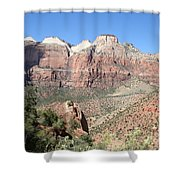Canyon Overview Zion Park Shower Curtain