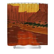 Canyon Reflection Shower Curtain