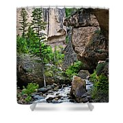 Canyon Serenity - Crazy Woman Creek - Crazy Woman Canyon - Johnson County - Wyoming Shower Curtain