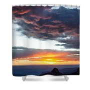 Canyon Sunset Shower Curtain by Dave Bowman