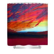 Canyon Sunset Shower Curtain by Keith Thue