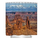 Canyon View From Mesa Arch Overlook Shower Curtain