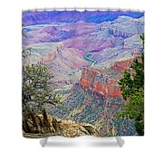 Canyon View From Walhalla Overlook On North Rim Of Grand Canyon-arizona  Shower Curtain