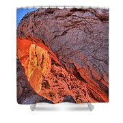 Canyonlands Orange Band Shower Curtain