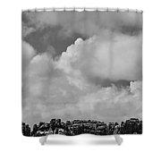 Canyonlands Winter Vista Shower Curtain