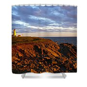 Cape Anguille Lighthouse Shower Curtain