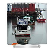 Cape Ann Red Fishing Shack Shower Curtain